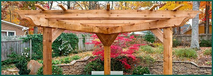 wood patio pergola